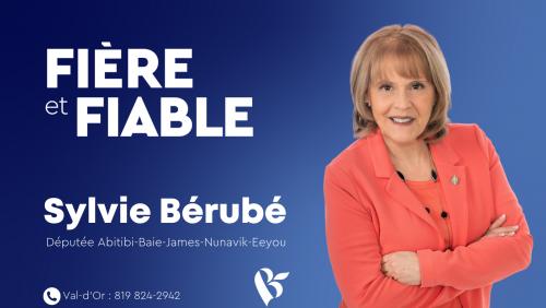 2e version Sylvie Bérubé, Députée Abitibi-Baie-James Nunavik Eeyou