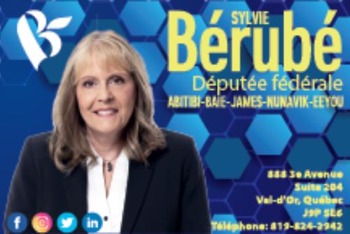 Sylvie Bérubé, Députée Abitibi-Baie-James Nunavik Eeyou