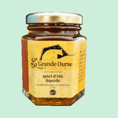 Miel d'été biologique liquide 150g
