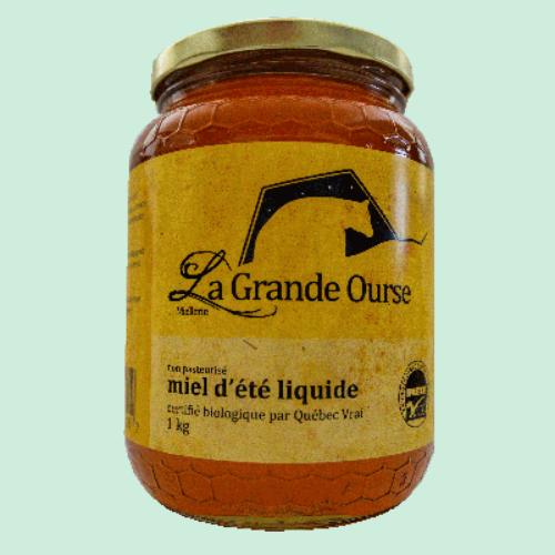 Miel d'été biologique liquide 1kg