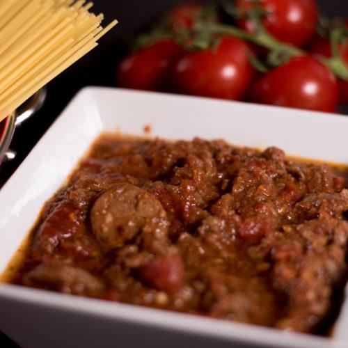 Sauce spaghetti Des Praz