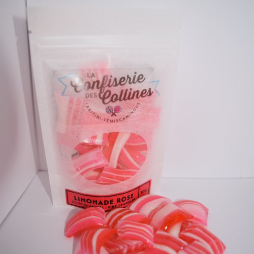 Bonbons satinés à la limonade rose