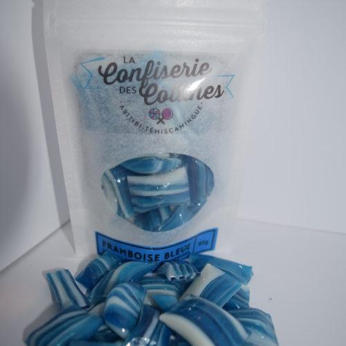 Bonbons satinés framboise bleue
