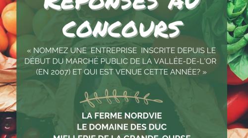 Gagnants du concours - Semaine québécoise des marchés publics